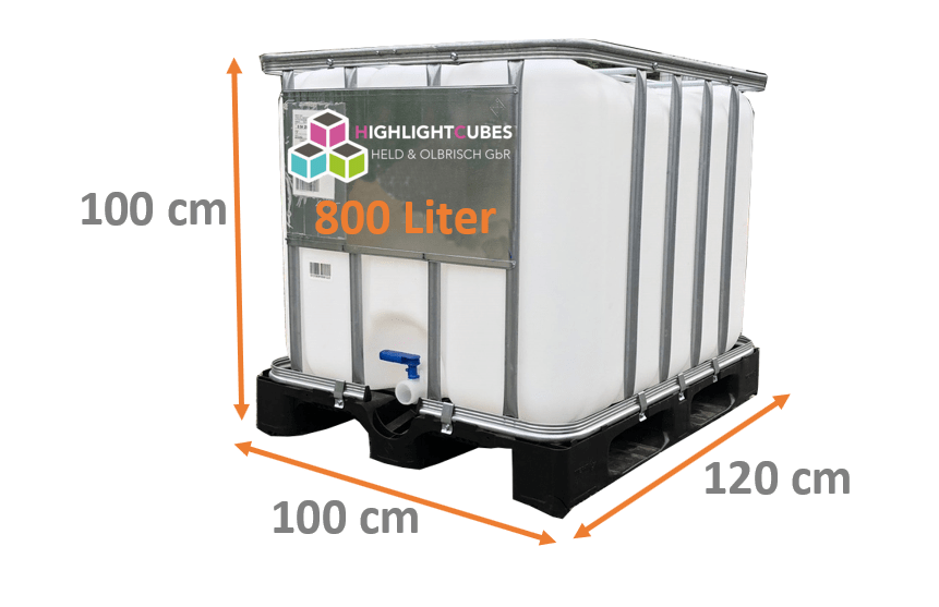 Maße 800 Liter IBC Container